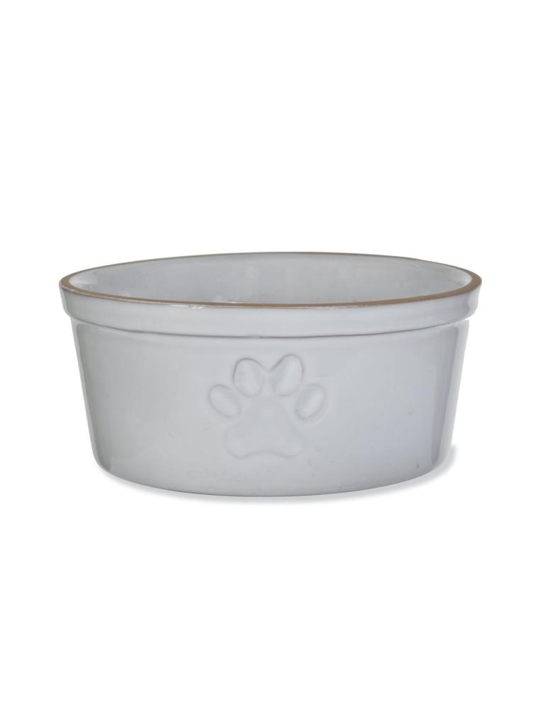 Stoneware Paw Print Pet Bowl - Large