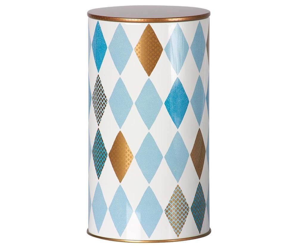 Maileg Harlequin Tin Blue - Large