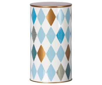 Maileg Harlequin Tin Blue - Large