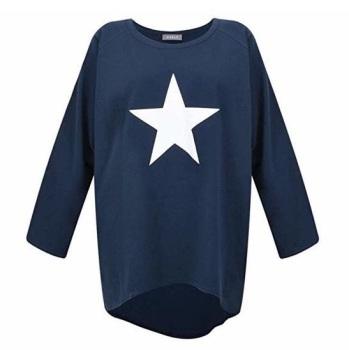 Chalk UK Robyn Top - Navy - White Star