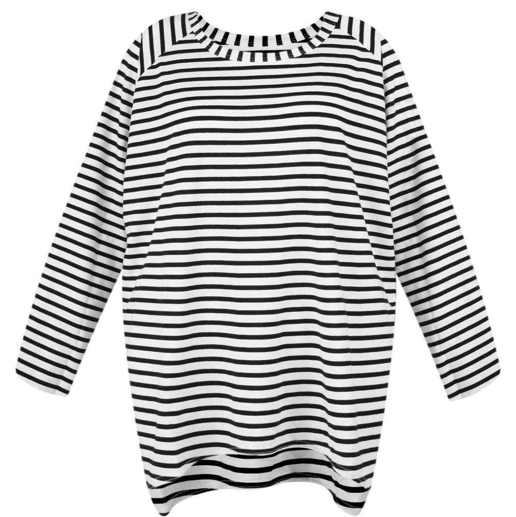 Chalk UK Robyn Top - Black Stripe