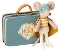 Maileg Super Hero Little Brother Mouse in Suitcase 2020