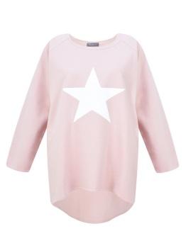 Chalk UK Robyn Top - Pink - White Star