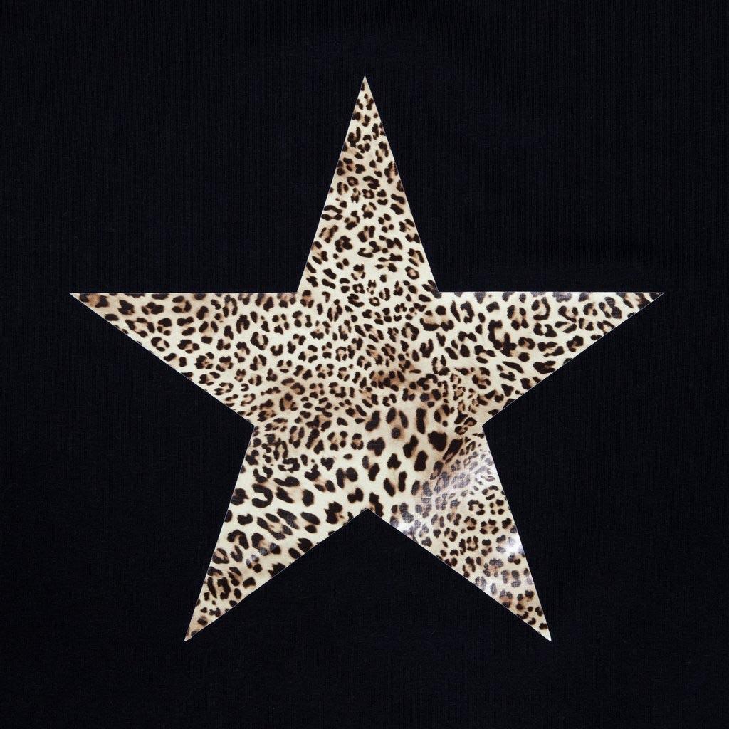 Chalk UK Robyn Top - Black - Animal Print Star