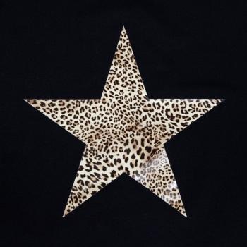Chalk UK Robyn Top - Black - Leopard Print Star