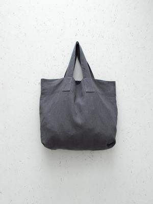 Chalk UK Oversized Natural Fabric Shopper - Charcoal Grey