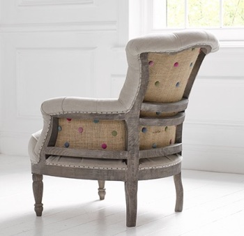 The Antoinette - Vintage Style, Linen and Jute De-constructed Chair