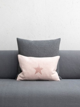 Chalk UK Star Oblong Felt Cushion - Pink