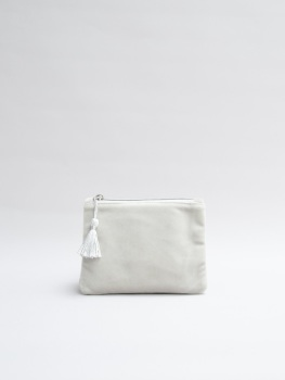 Chalk UK Annie Velvet Purse - Silver Grey