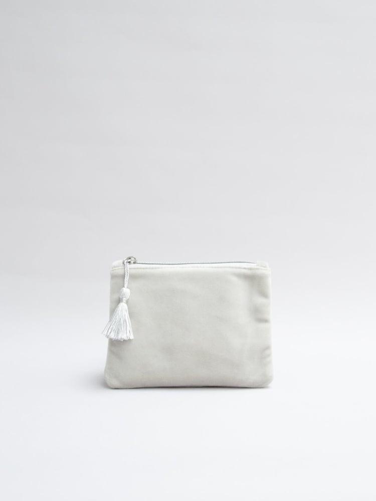 Chalk UK Annie Velvet Purse - Silver Grey