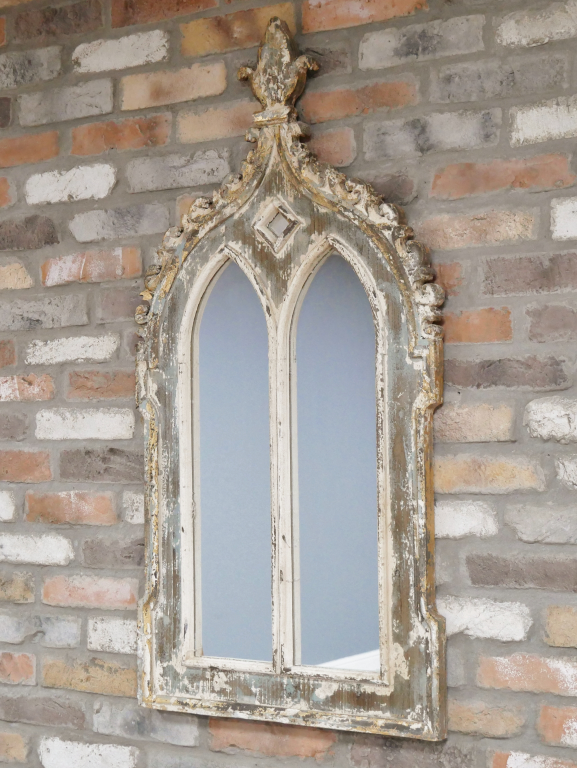 French Gothic Style Arched Mirror