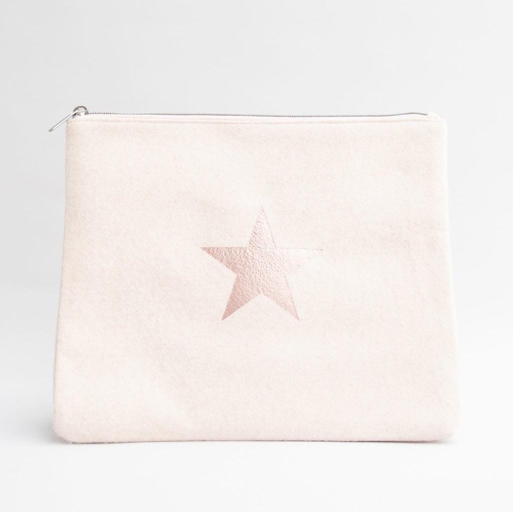 Chalk UK Wool Star Bag Large  - Pink