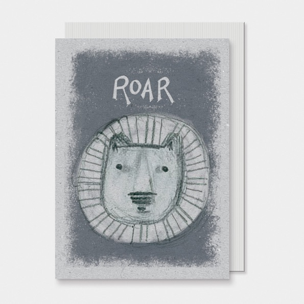 East of India Animal Head Card - Roar!