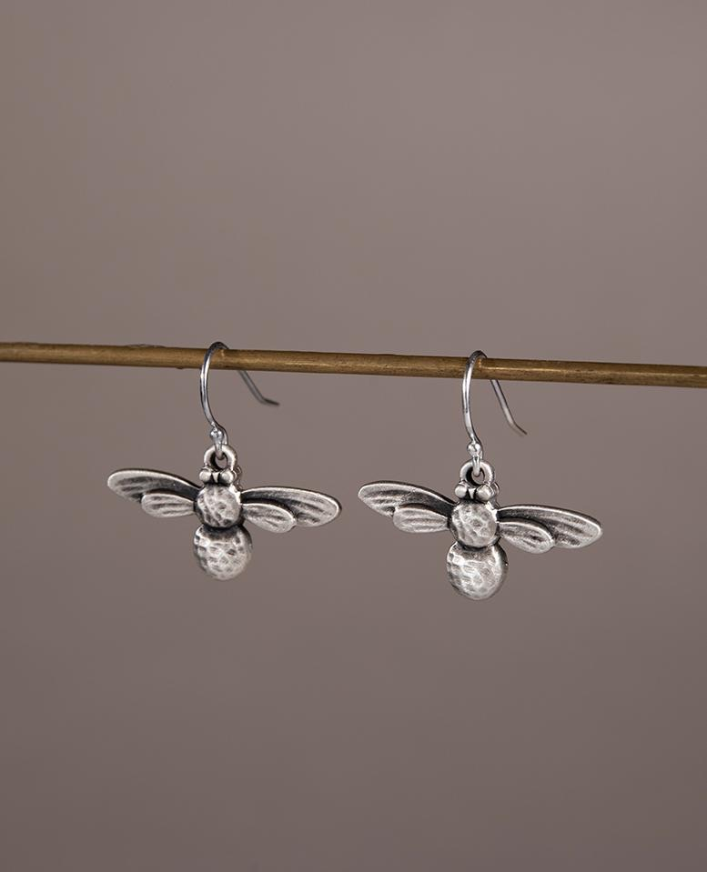 Damon Mini Bee Drop Earrings