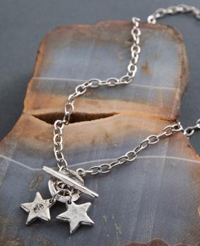 Danon Star Shine Double Charm Necklace