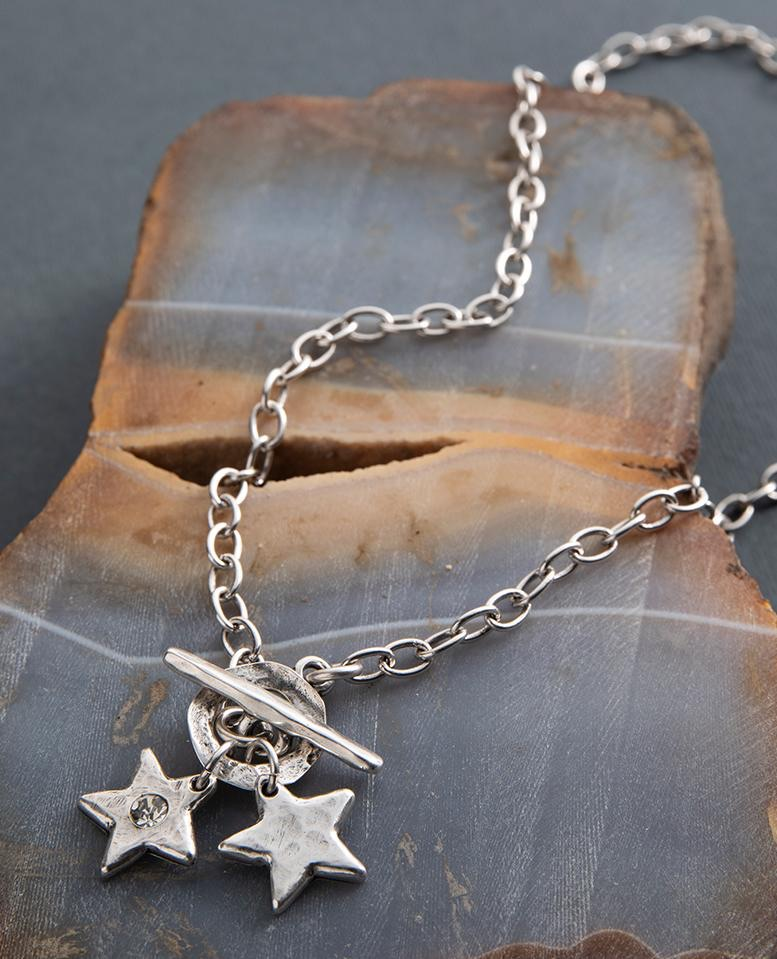 Danon Star Shine Double Charm Necklace
