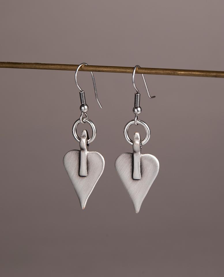 Danon Signature Heart & Hoop Drop Earrings