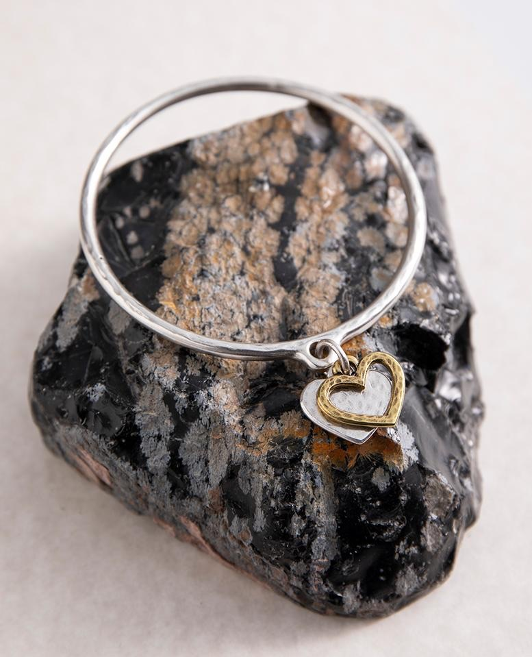 Danon Heart & Outline Bangle