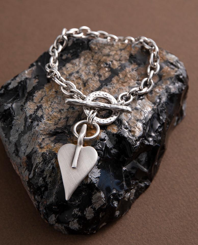 Danon Signature Heart Link Bracelet