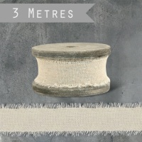 East of India Linen Ribbon on Spool - Natural