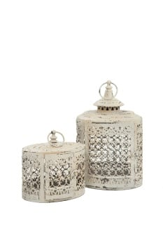 Vintage Style Oval Moorish Lanterns - Set of 2