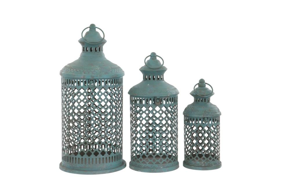 French Blue Savona Lantern - Large