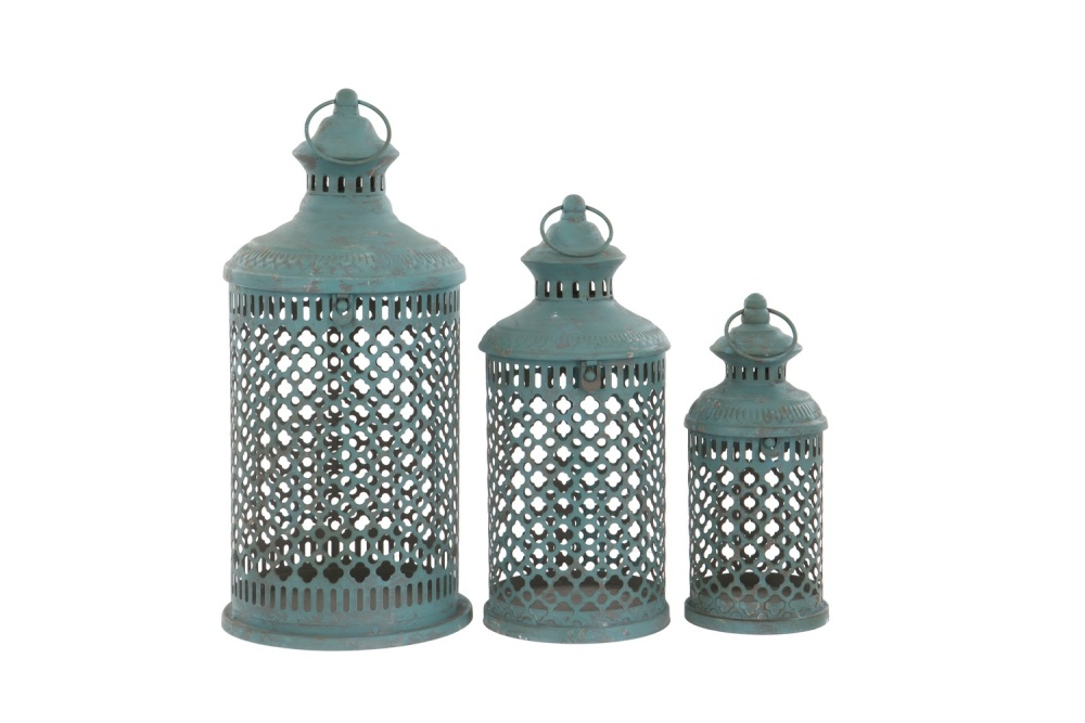 French Blue Savona Lantern - Medium