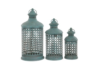French Blue Savona Lantern - Medium