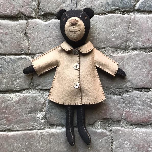 East of India Felt Bear - Freddie