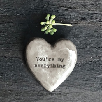 East of India Heart Token  - You're My Everything