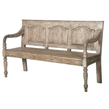 REDUCED FROM £495! Colonial Style, Reclaimed Pine Bench