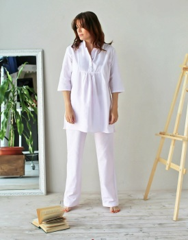 100% Cotton Pink Striped Pyjama Set  - 12/14