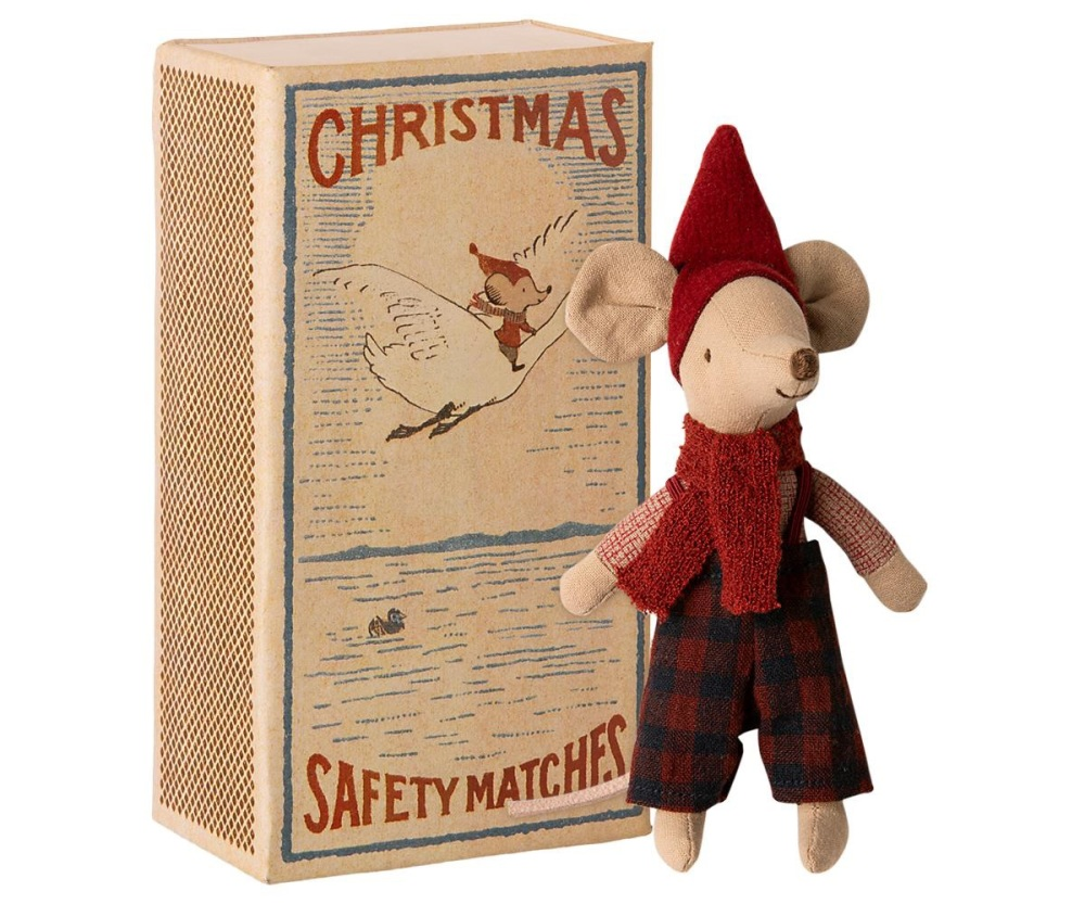 Maileg Christmas Mouse In Matchbox - Big Brother