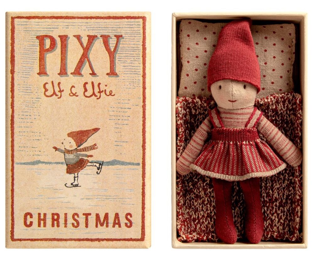 Maileg Christmas Elfie in Matchbox