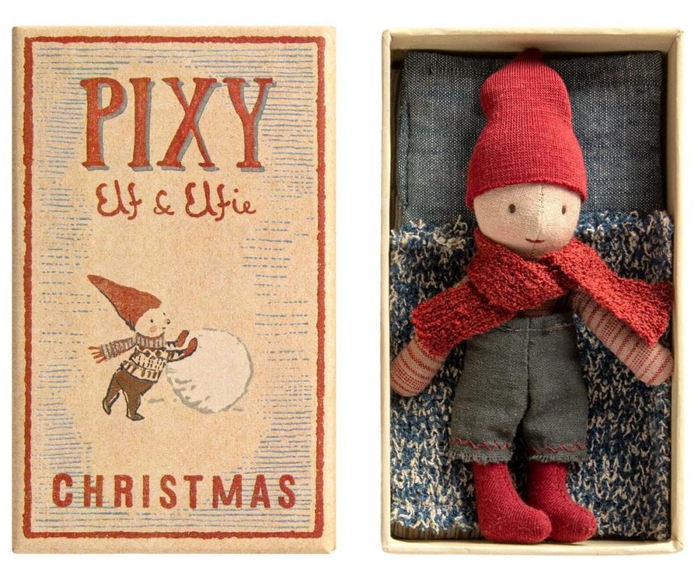 Maileg Christmas Elf in Matchbox