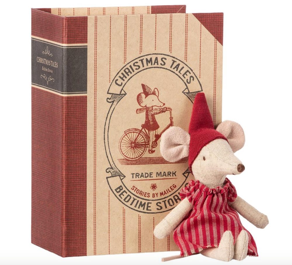 Maileg Christmas Mouse in Book - Big Sister