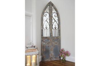 French Inspired Rustic Door Mirror