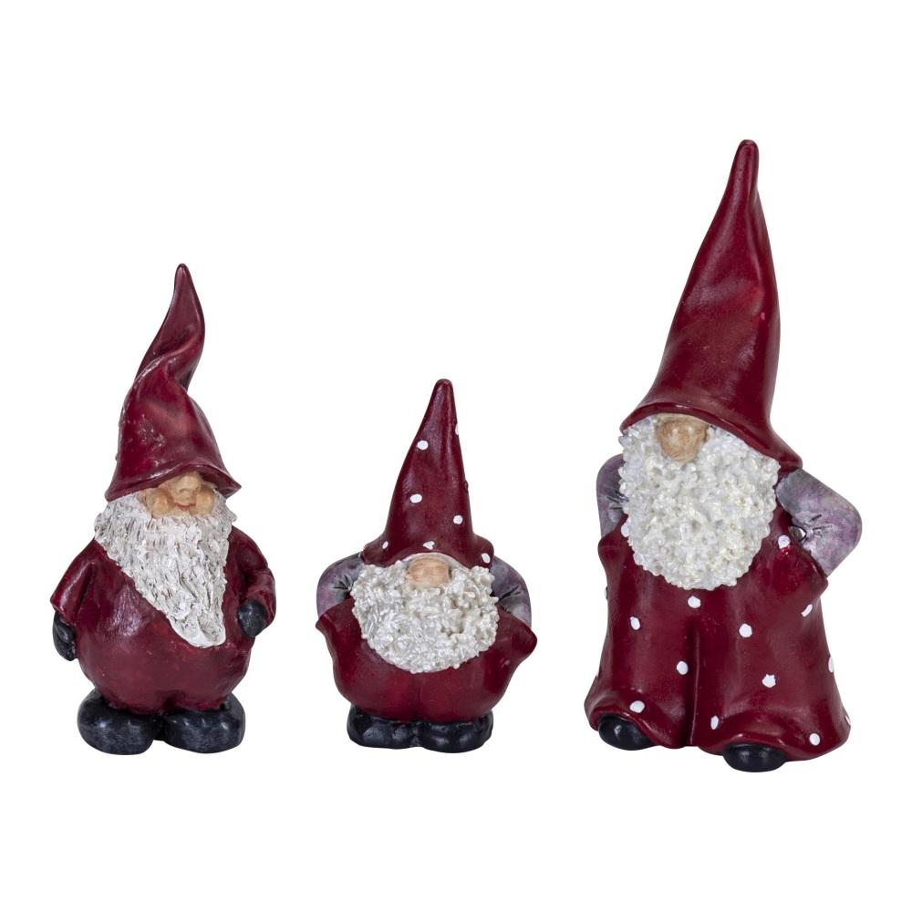 Naasgransgarden Santa Elmer, Max and Leonard Christmas Ornaments 3 Piece Se