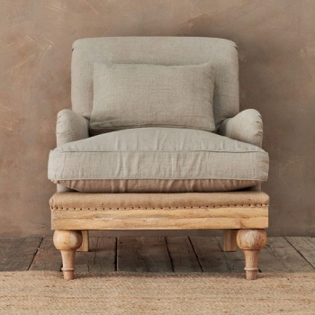 The Raphael - Vintage Inspired, De-constructed Armchair