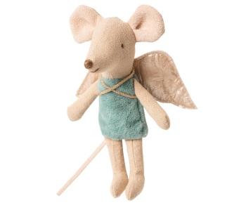 Maileg Little Sister Fairy Mouse - Blue