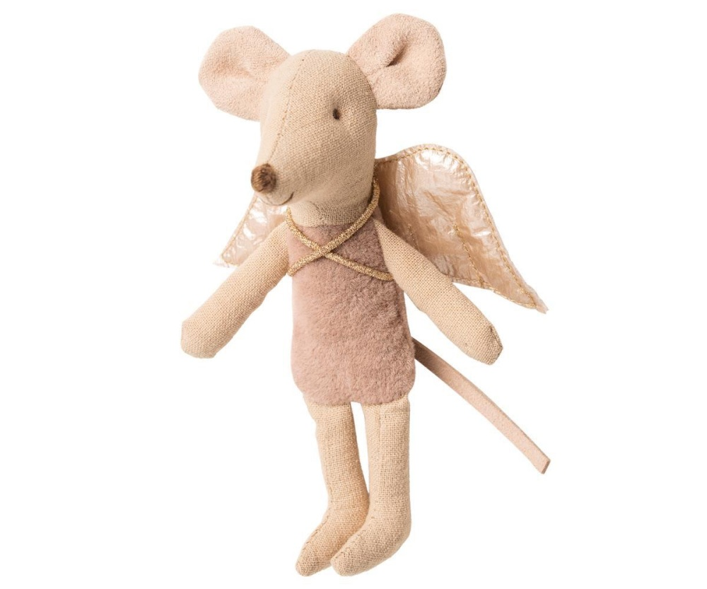 Maileg Little Sister Fairy Mouse - Pink