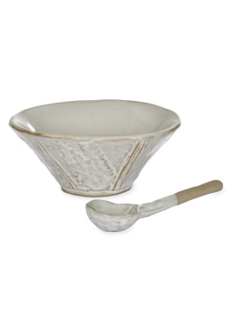 Garden Trading Ceramic Ithaca Meze Bowl and Spoon