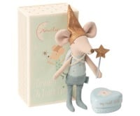 Maileg Tooth Fairy Boy Mouse In Matchbox With Tooth Tin