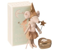Maileg Tooth Fairy Girl Mouse In Matchbox With Tooth Tin