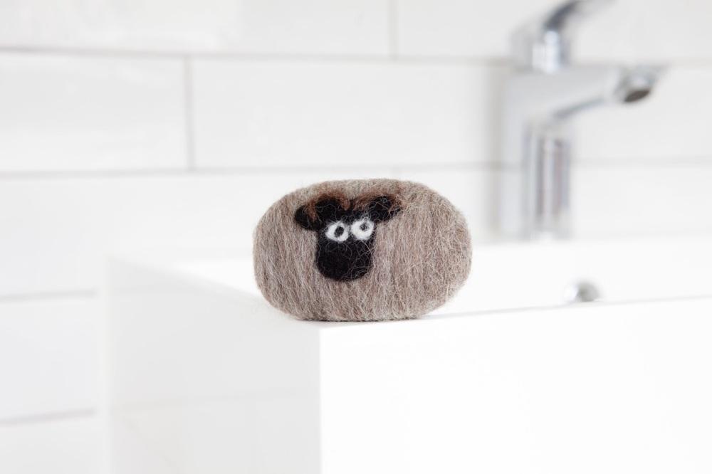 Little Beau Sheep Felted Soap - Shetland Breed