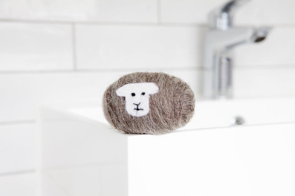 Little Beau Sheep Felted Soap - Herdwick Breed
