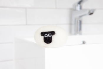 Little Beau Sheep Felted Soap - Suffolk Breed