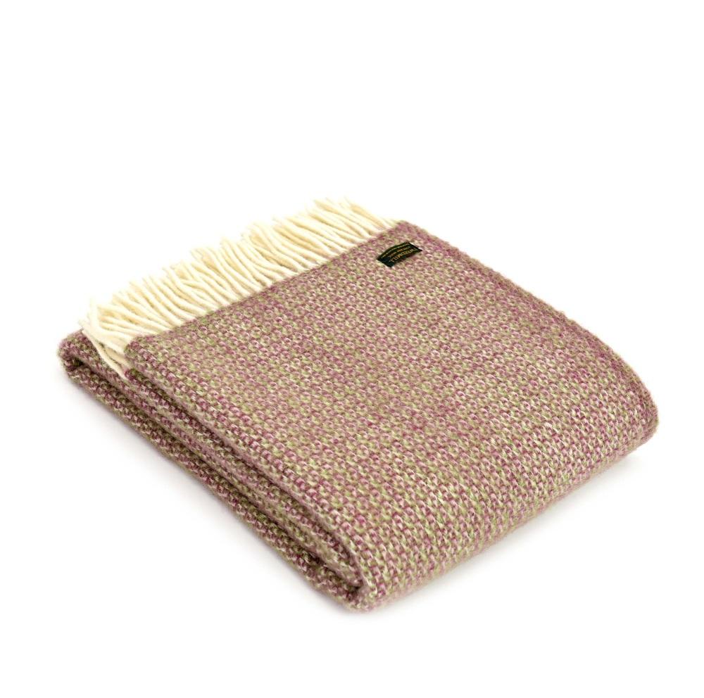 Tweedmill Illusion Pure New Wool Throw - Raspberry