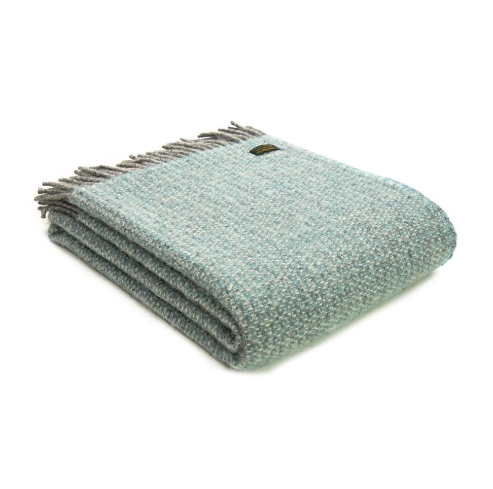 Tweedmill Illusion Pure New Wool Throw - Spearmint
