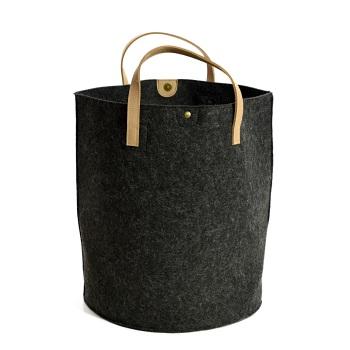 Tweedmill Felt Storage Basket - Charcoal Grey